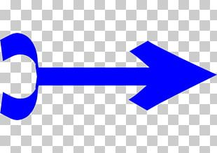 Blue Arrow Pointing Right. PNG