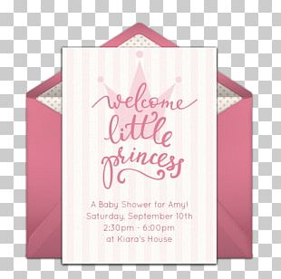 Baby Shower Wedding Invitation Party Princess Infant PNG
