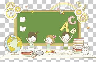 Student Child Learning Cartoon PNG