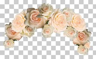 Garden Roses Floral Design Cut Flowers Wreath PNG