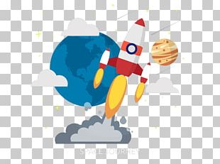 Rocket Flat Design Illustration PNG