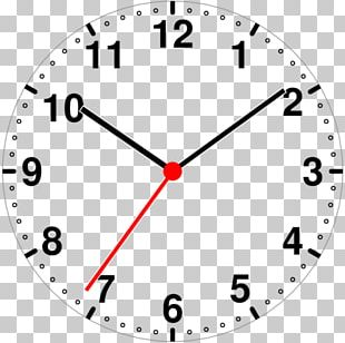 Clock Face Coloring Book Number PNG