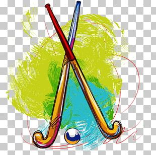Field Hockey Ball Hockey Stick Golf PNG