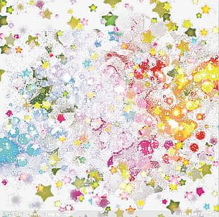 Gouache Shining Stars Background Texture PNG