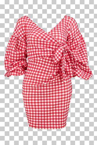 Polka Dot Shoulder Sleeve Nightwear Dress PNG