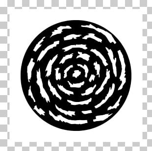 Spiral Microsoft PowerPoint Black And White Circle Pattern PNG