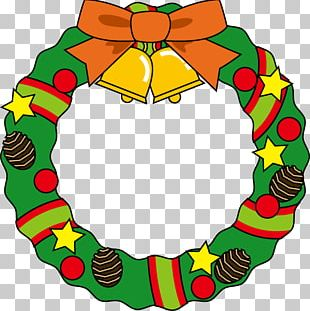 Wreath Santa Claus Christmas Ornament PNG