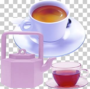 White Coffee Earl Grey Tea Coffee Cup PNG
