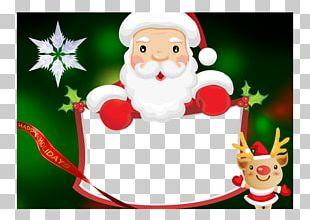 Christmas Tree Christmas Card Gift Santa Claus PNG