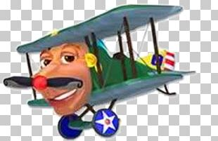 PBS Kids Airplane Biplane Character PNG