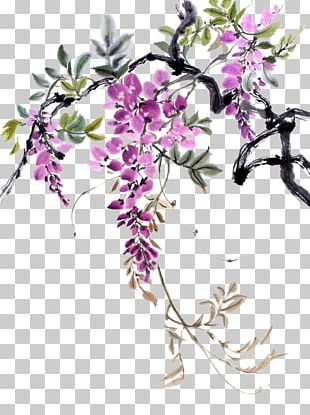 Watercolor Painting Drawing Chinese Painting Chinese Wisteria PNG