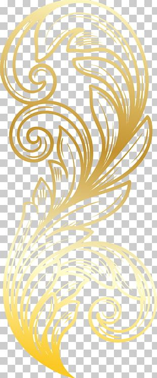 Feather Gold PNG