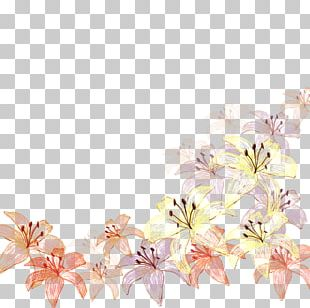 Floral Design Textile Cut Flowers Pattern PNG