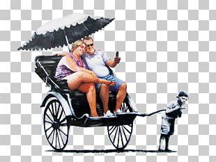 Rickshaw Artist Banksy Street Art PNG
