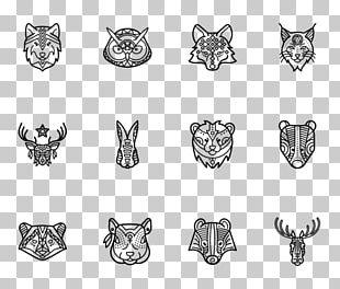 Line Art Body Jewellery Pattern PNG