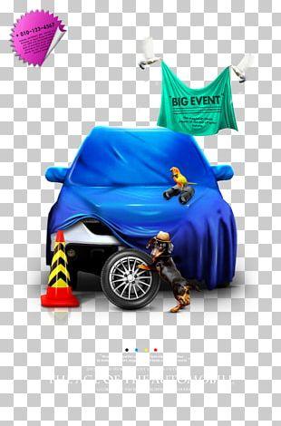 Creative Car Poster Design Material PNG