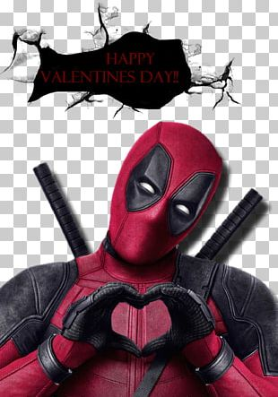Deadpool Valentine's Day Film Greeting & Note Cards Marvel Comics PNG