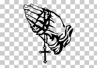 Praying Hands Stencil Prayer Drawing PNG