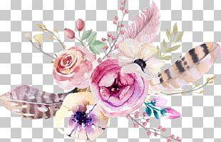 Boho-chic Flower Bouquet Interior Design Services PNG