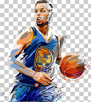 Stephen Curry Golden State Warriors Painting Basketball Jersey PNG