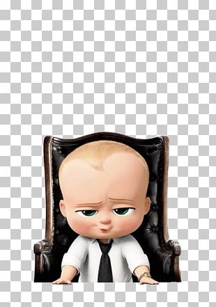Boss Baby In Desk Chair PNG