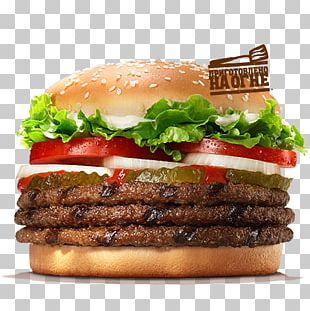 Whopper Hamburger Fast Food Chicken Sandwich Cheeseburger PNG
