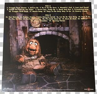 Boober Phonograph Record The Muppets Catch The Tail By The Tiger LP Record PNG
