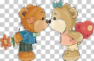 Teddy Bear Kiss PNG