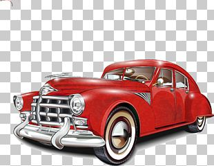 Vintage Car Poster Classic Car PNG