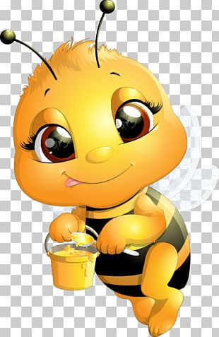 Bee Cartoon Drawing Illustration PNG