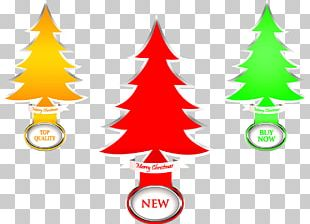 Christmas Tree Silhouette Illustration PNG