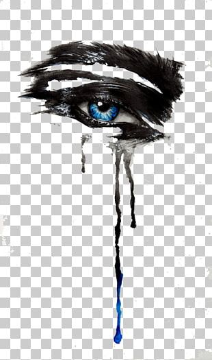 Eye Tears Drawing Ink PNG
