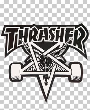 Thrasher Skateboarding Iron-on Independent Truck Company PNG