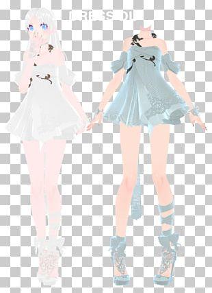 Hatsune Miku MikuMikuDance Vocaloid Light Sailor Dress PNG