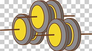 Barbell Physical Exercise Icon PNG