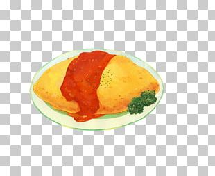 Omurice Food Illustrator Vegetarian Cuisine Illustration PNG