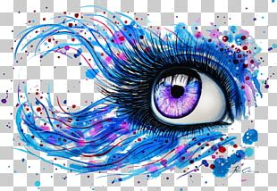 Watercolor Painting Abstract Art Drawing Eye PNG
