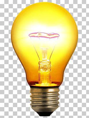 Incandescent Light Bulb Lighting Invention PNG