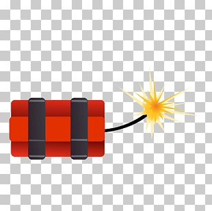 Red Hand Painted Explosives PNG