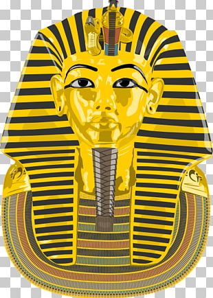 Tutankhamun's Mask Ancient Egypt Drawing PNG