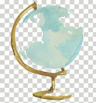 Globe Watercolor Painting Drawing PNG