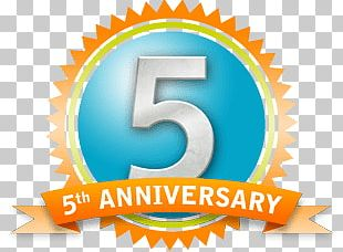 5th Anniversary Badge PNG