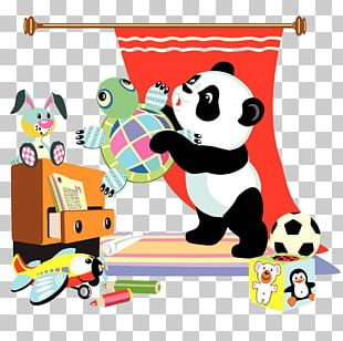 Giant Panda Horse Cartoon Equestrianism PNG