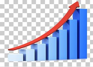 Blue Growth Graph PNG