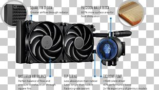 Computer System Cooling Parts Cooler Master Water Cooling Central Processing Unit Heat Sink PNG
