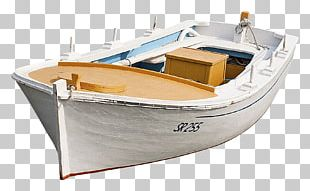 White Wooden Boat PNG