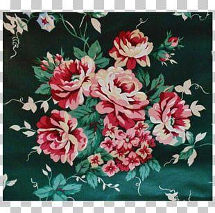 Flower Textile Chintz Floral Design Garden PNG