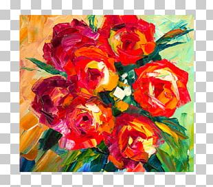 Garden Roses Floral Design Paper Cut Flowers PNG