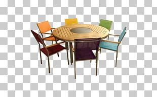 Table Chair Wicker Dining Room Furniture PNG