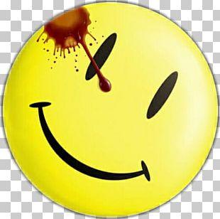 Edward Blake Watchmen Smiley Desktop T-shirt PNG